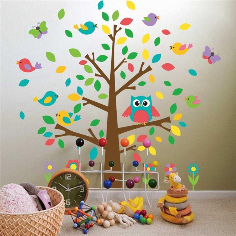 tienda online lindo bhos birds tree pegatinas de pared para nios sala de juegos decoracin del cuarto de nios de dibujos animados beb inicio tatuajes de