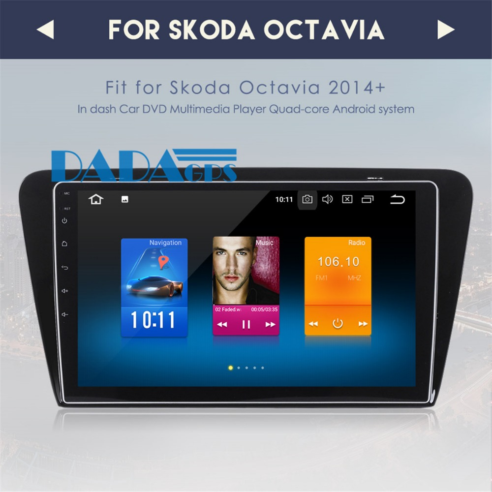 10 2 inch Android 8 0 Car Radio GPS Navigation Vehicle for Skoda Octavia 2014 2015
