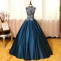 100% echt navy blau silber stickerei thema gericht ballkleid mittelalterlichen kleid Renaissance königin Viktorianischen kleid kleid Belle Ball