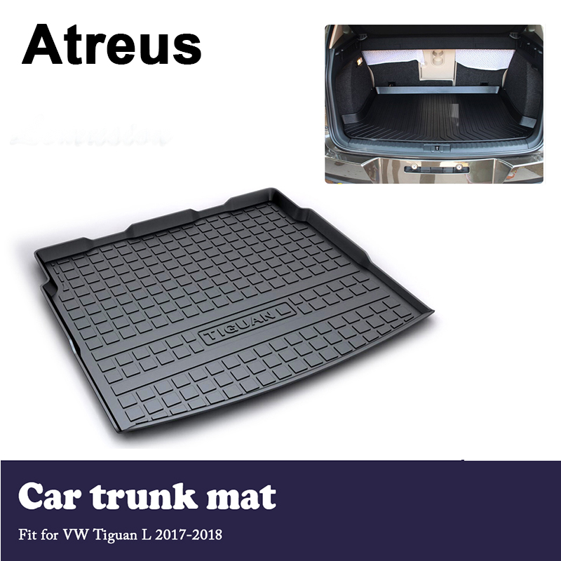 Atreus Car Trunk Cargo Floor Liner Tray Mat Cover Protection Blanket For Volkswagen VW Tiguan L 2017 2018 Accessories 1 18 масштаб vw volkswagen новый tiguan l 2017 оранжевый diecast модель автомобиля