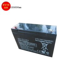 6v rechargeable lead acid storage battery deep cycle ups battery electric vehicle car battery 6v 10ah 20hr 151X50X95mm