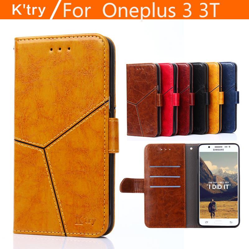 Oneplus 3 3T case cover flip leather original k'try transparent silicone TPU luxury One plus 3 3T cases and covers hard fundas