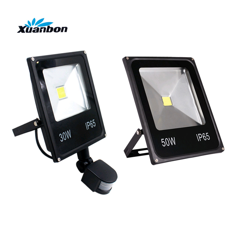 <font><b>Floodlights</b></font> 10W <font><b>20W</b></font> 30W 50W <font><b>LED</b></font> Flood light PIR Motion Sensor Detector waterproof Spotlight Outdoor IP65 <font><b>Floodlight</b></font> AC110 220V image