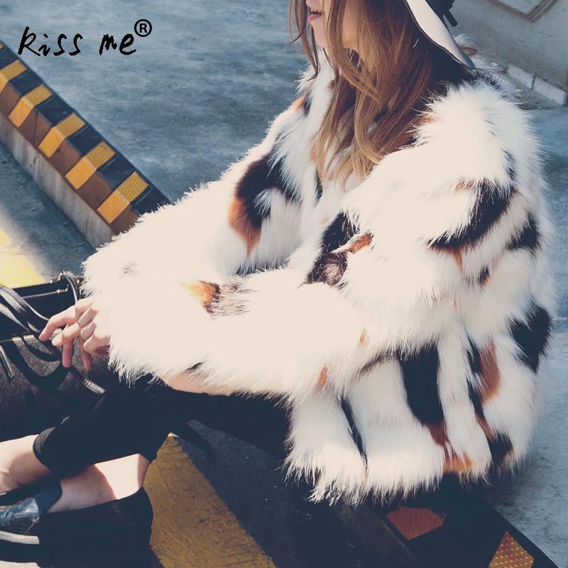 Veste Manteau La Chaud Femmes Fourrure Faux À Longues Plus Manteaux De Manches Taille Patchwork O Blanc Cou Xxl Impression Motif Léopard vw5Uqw
