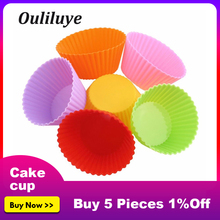 New 12/6/1PCS Reusable Silicone Cups For Kitchen Making Muffin Cake Baking Cupcakes Accessories Mold