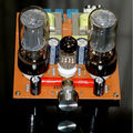 HIFI stereo 2.0 tube 6N2+6P3P single-ended Class A power amplifier board DIY KIT