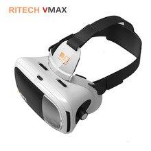 Ritech vmax inmersiva 3d vidrios de la película casco 360 gafas de realidad virtual vrbox vr auricular cartón 3.0 para 4.7-6′ smartphone