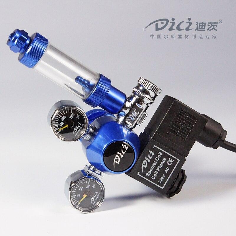 Aquarium DICI CO2 Régulateur, DC02-04, double Jauge Solénoïde, CGA320, W21.8, M22, 22mm, Subir les bouteilles