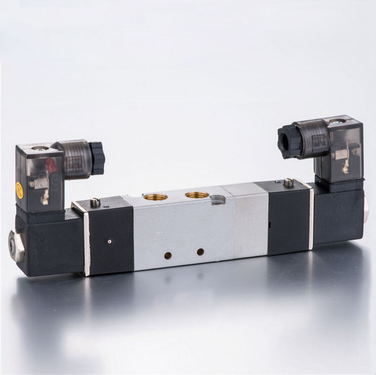 4V230E-06 3/5way double electrical control midst exhaust type 1/8 BSPT air solenoid valve 4v130 06 dc24v 1 8 bspt 3 5way medium closed control solenoid magnetically air pneumatic valve