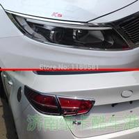 Para KIA K5 2014 2015 2016 ABS cromo Faro y para cubierta de luz trasera ribete