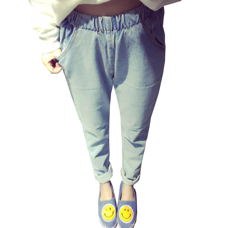 Large size Loose Jeans Women 2017 Spring and Summer New Fashion Casual Jeans Retro Nine minutes