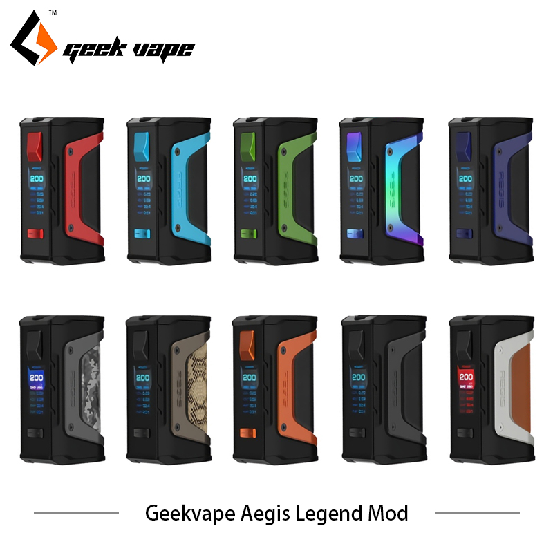 Original GeekVape Aegis Legend 200W TC Box MOD New AS chipset Powered by Dual 18650 batteries e cigs No Battery Aegis Legend MOD цена