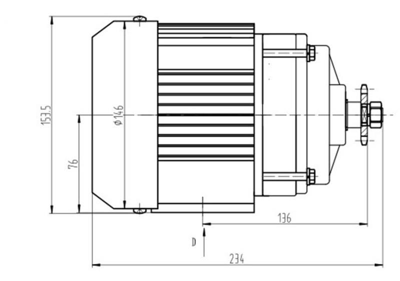 Image 4 - BM1418ZXF 350W 48V Brushless DC Motor Electric Tricycle Motor Electric Bicycle Ebike Motor BLDC E Trishaw Trike Bike Accessrioes-in Electric Bicycle Motor from Sports & Entertainment on AliExpress