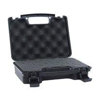 ABS Airsoft Tactical Pistol Case Twardego Storeage Case Gun Pistol Case Wyściełane Akcesoria Carry Polowanie Pojemniki
