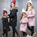 2016 Chegam NOVAS de inverno longo meninas para baixo Casacos quentes crianças Gola de pele parka de espessura de Alta qualidade de Algodão crianças Outerwear DQ187