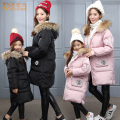 2016 NEW Arrive winter long girls down Jackets warm kids fur Collar parka High quality thickness Cotton children Outerwear DQ187