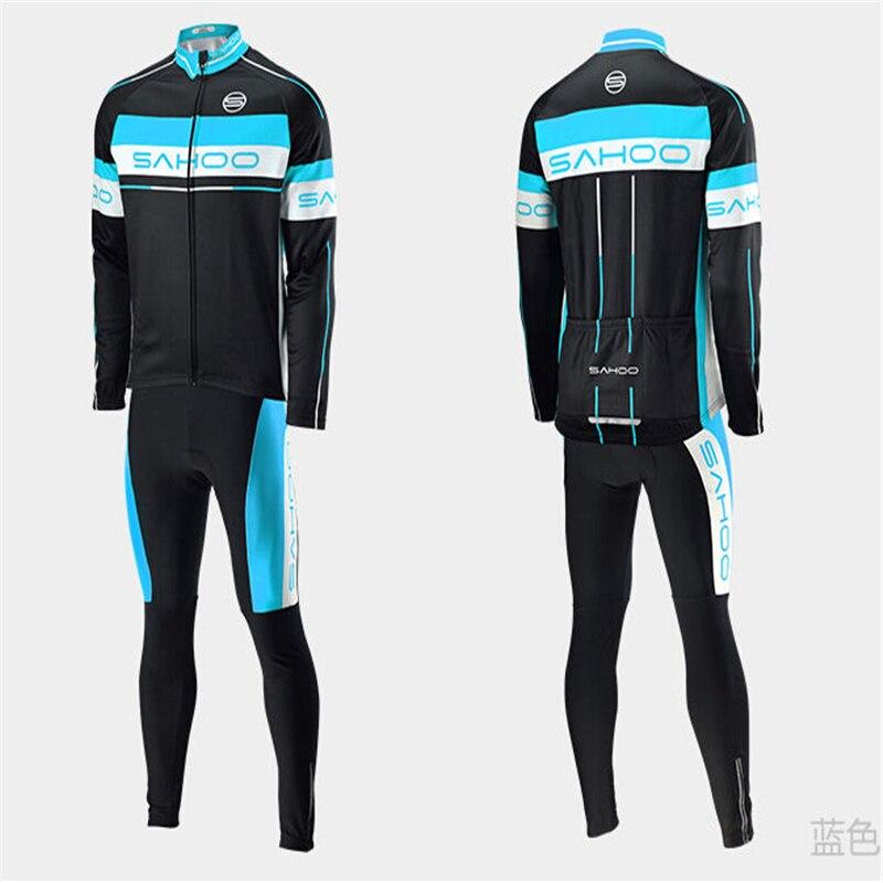 ФОТО Hot Sale! 2015 SAHOO winter cycling jersey + thermal Cycling pant set winter thermal cycling clothing 2-Color Free shiping