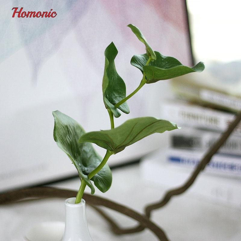 5PCS vihreä perhonen keinotekoiset lehdet kasvi silkki kukka häät - Tavarat lomien ja puolueiden - Valokuva 2
