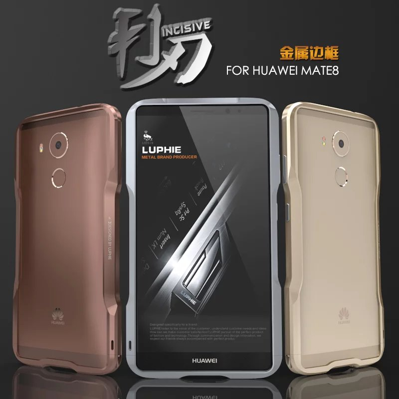 Luxury Huawei Mate 8 Case Bumper Fashion Anti-skid Exquisite Cutting Incisive Aluminum Metal Case For Huawei Mate 8 Cover Fundas