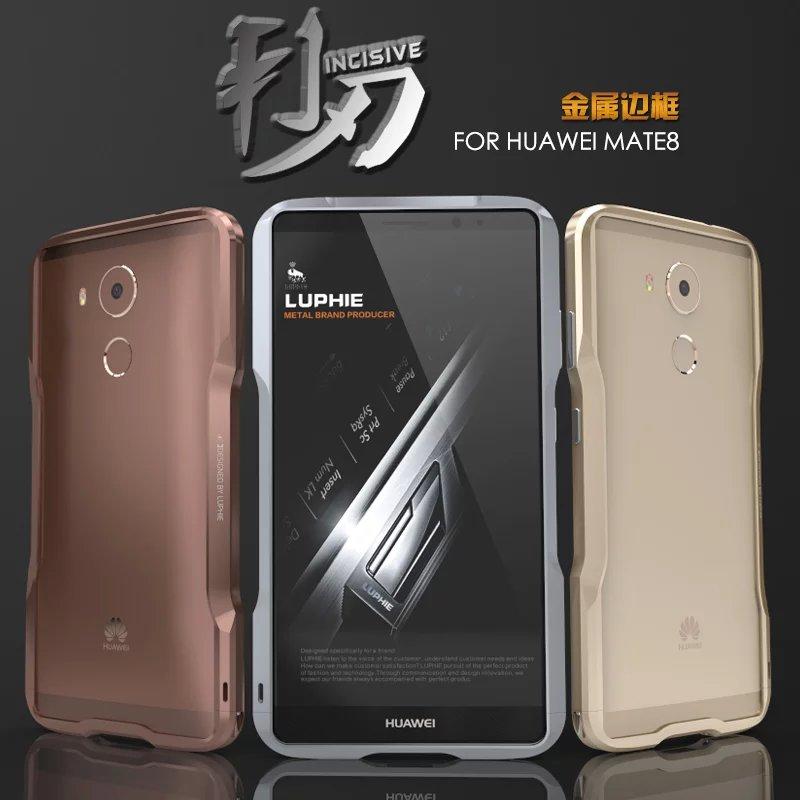 bilder für Neue Ankunft Huawei Kollege 8 Case Bumper Fashion Rutschfeste Exquisite Schneiden Einschneidende Aluminium Metallgehäuse Für Hauwei Mate 8 Fundas