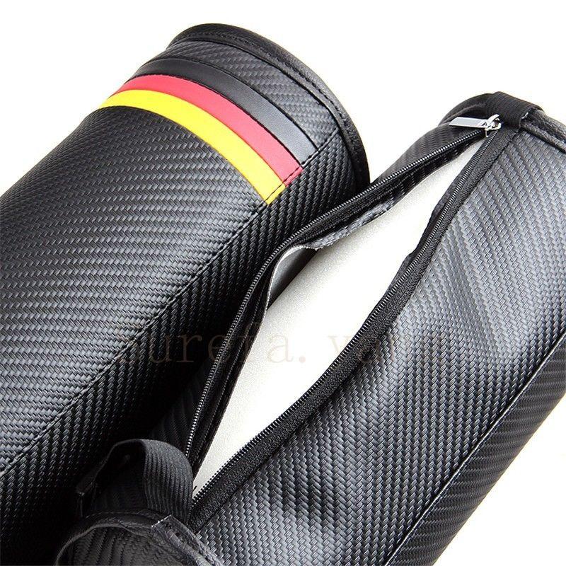 2Pcs M Power Carbon Fiber Circular Auto Seat Neck Cushion Pillow Headrest For M6