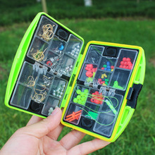 24 Compartments Fishing Tackle Box Full Loaded Hook Spoon Water-Resistant Swivels Fishing Accessories Sinker Fishing Box