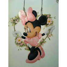 DIY 5D diamante pintura punto de cruz Disney Minnie cuadro completo cuadrado diamante bordado Mickey mouse diamantes de imitación mosaico iconos