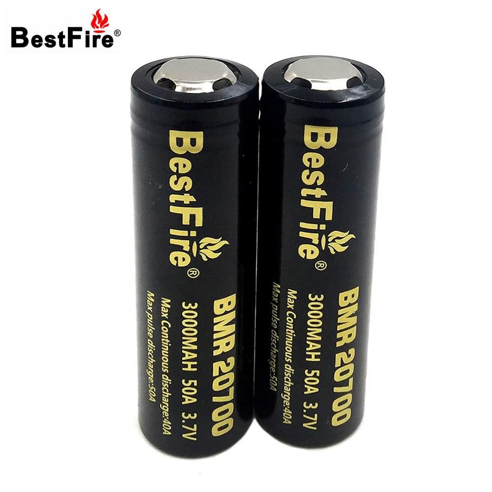Bestfire 20700 Batterie Li-ion Batterie 3000 mAh 3.7 V 50A Rechargeable Batterie pour E-Cigarette/LED lampe de Poche 2 pcs/lot
