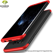 RONTREE 360 Degree Cases For Samsung Galaxy S6/S7/S8/S9 Cases Cover Protective Anti-knock For Galaxy S6 edge/S7 Edge S8/S9  Plus все цены