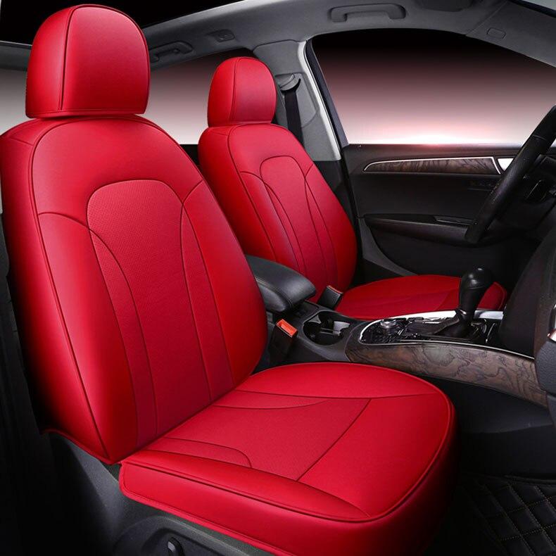 Пользовательские кожаный чехол автокресла для Авто Audi A4 A4L A6 A6L A3 Q3 Q5 Q7 A1 A7 S3 s5 S7 S8 S6 R8 TT A8 автомобильные Аксессуары Укладка