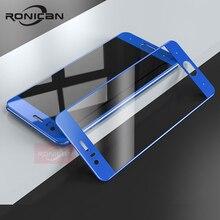 """כבוד 9 זכוכית מזג Huawei honor 9 מסך מגן מלא כיסוי כחול מגן סרט RONICAN Huawei honor9 מזג זכוכית 5.2"""""""