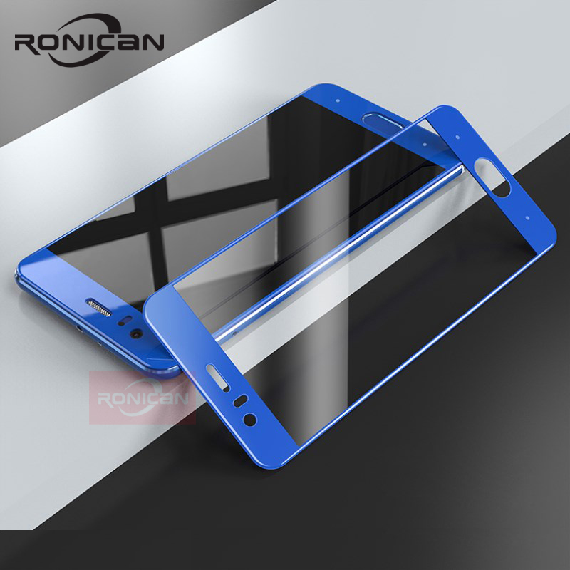 Honor 9 Glass Tempered Huawei Honor 9 Screen Protector Full Cover Blue Protective Film RONICAN Huawei Honor9 Tempered Glass 5.2