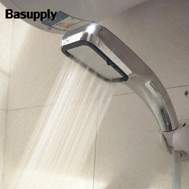 Basupply 1 Pz 300 Fori Bagno Soffione Doccia ABS Testa Risparmio Energetico Flus