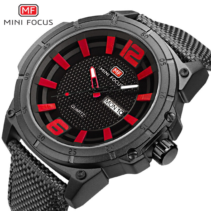 MINIFOCUS Men Watch Top Brand Luxury Fashion Mens Watches Date Week Sport Military Army  ...