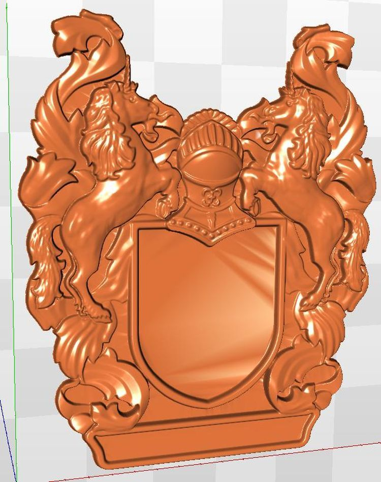 3D Model STL format relief for CNC Emblem_3 isus 3d model relief figure stl format religion 3d model relief for cnc in stl file format