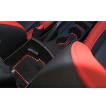 Lsrtw2017 Silica Gel Car Door Cup Slot Mat for Kia Kx Cross K2 Rio lsrtw2017 durable waterproof leather car trunk mat gloor mat for kia kx cross