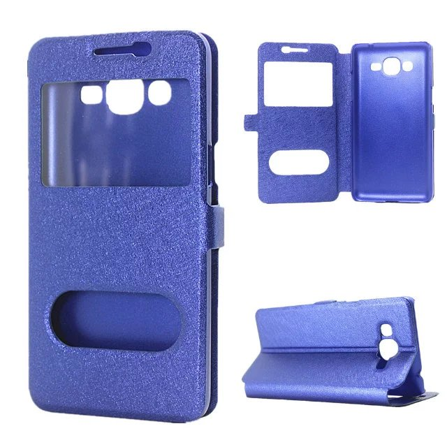 076ae6d0759 Luxury Smart Front Window View Leather Flip Case For Samsung Galaxy J1 Ace  Mini J1 J2 J3 J5 J7 2016 J2 prime J3 Pro Cases HC11