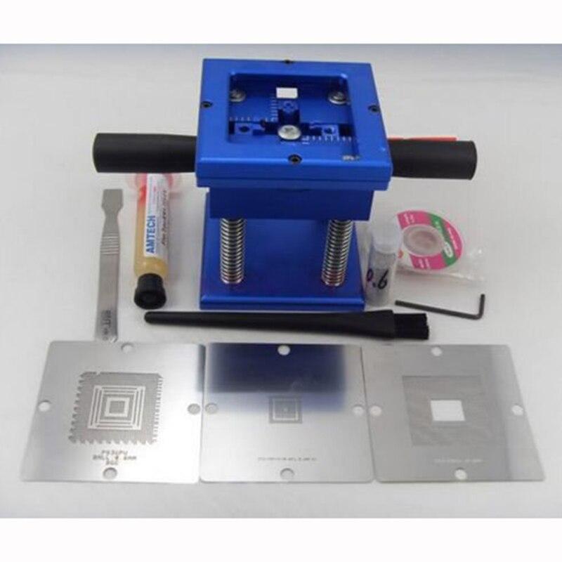 90x90mm Reballing Reball Rework Station 3pcs Stencils Solder Flux solder Ball Kit for PS3 Play Station