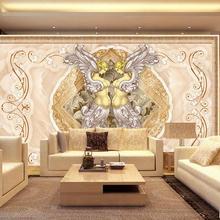 Papel tapiz 3d personalizado para baño papel tapiz 3d clásico elegante mármol diosa Ángel fondo personalizado papel tapiz 3d