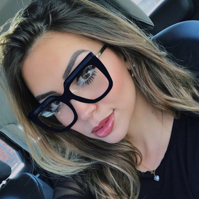 33148c7a637 Detail Feedback Questions about QPeClou Big Square Glasses Frame Women  Leopard Optical Lens Eyeglasses Frames Female 2018 New Brand Clear Lens  Oculos Shades ...