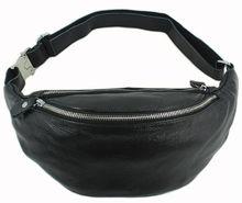Mode Véritable sac de taille En Cuir pour hommes fanny pack ceinture En Cuir sac taille pack bum sac d'argent ceinture taille poche molle pochete
