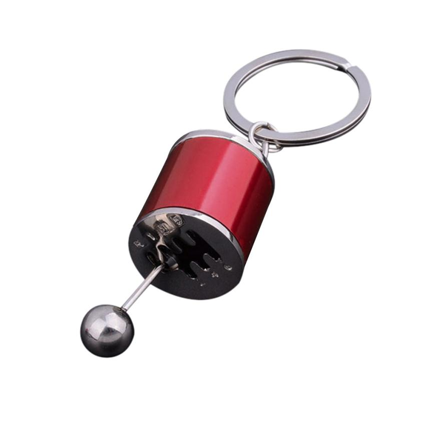 Starry-styling Gear Knob Gear Shift Gear Stick Gear Box Metal Key Chain Keyfob Car Keyring Gift ju11