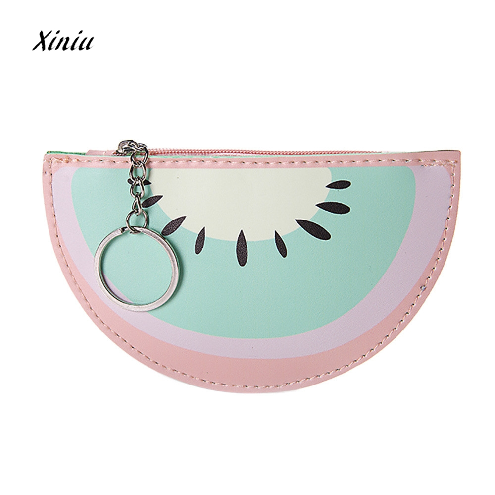 Women Girls Cute Fruit Coin Purses Fashion Snacks Bag Coin Purse Wallet Zipper Ladies Small Change Pouch Key Holder Bag