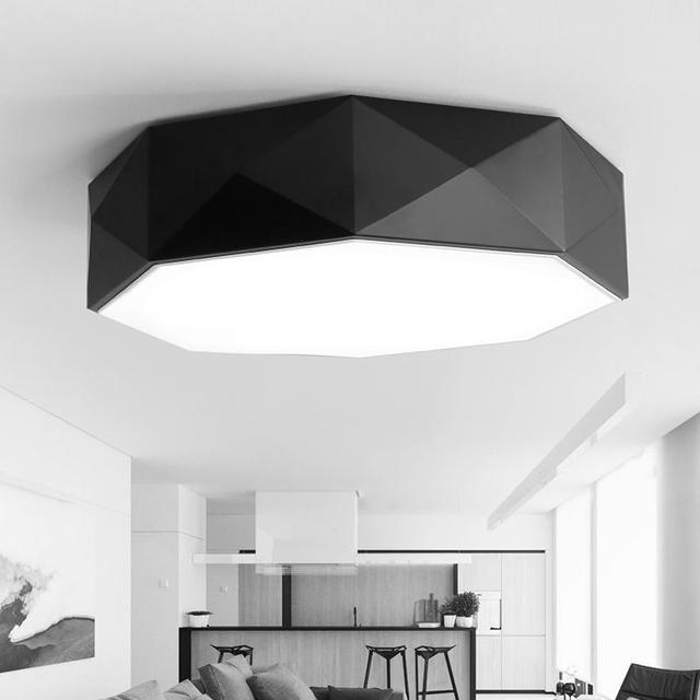 Office black Led Panel Light work lights white acryl shade study lamp Geometric Modern Balcony Bedroom Kitchen led Ceiling Lamps