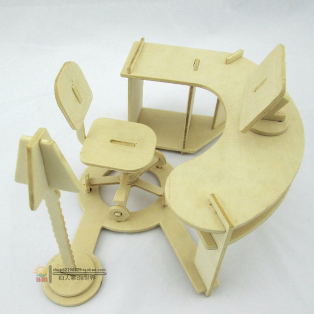 Diy Three Dimensional Child Puzzle Handmade Embled Decoration Model Toy Office Desk