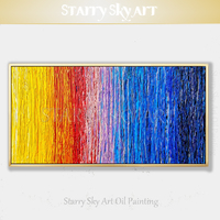 New Painting Handmade Rich Colors Abstract Knife Painting Textured Paint Pop Fine Art Colorful Modern Abstract Acrylic Painting