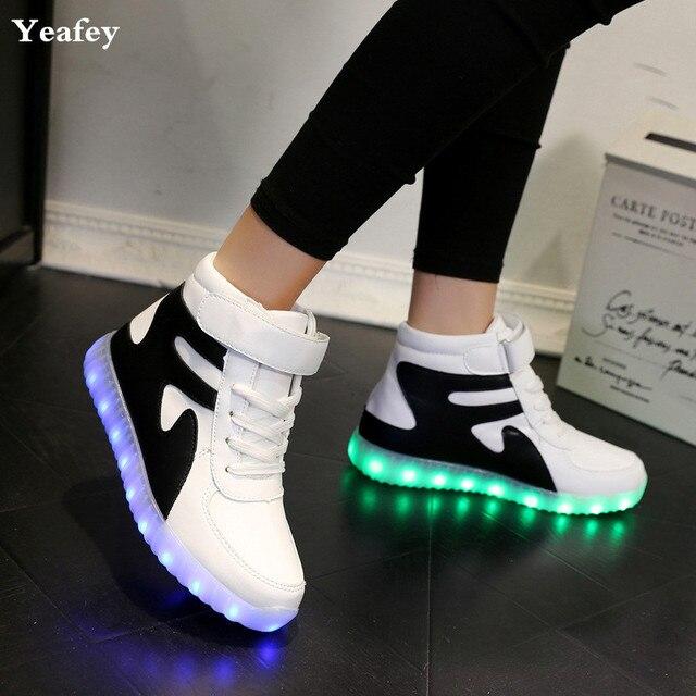 Yeafey Madchen Stiefel Leucht Krasovki Sneakers Frau Madchen Kinder