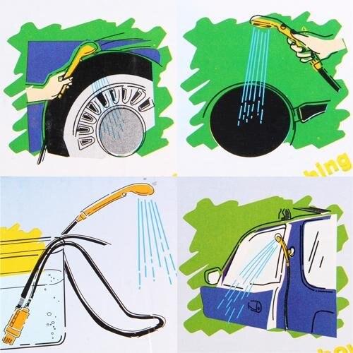 JHO-12V Портативный Открытый Отдых Путешествия автомобилей собаку душ