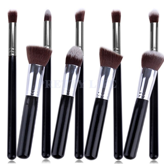 Best Quality 9pcs Makeup brushes Premium Synthetic Make up Brush Set Tools Kit Professional Cosmetics Silver Drop Shipping 59X1