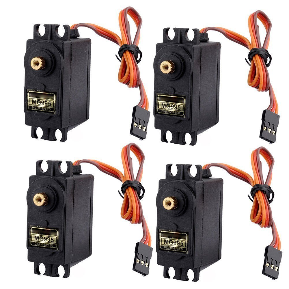4pcs RC Servo MG995 Metal Gear Torque For Airplane Helicopter Car Boat Parts